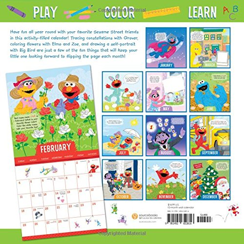 Sesame Street Activity Calendar Monthly Fun For The Whole