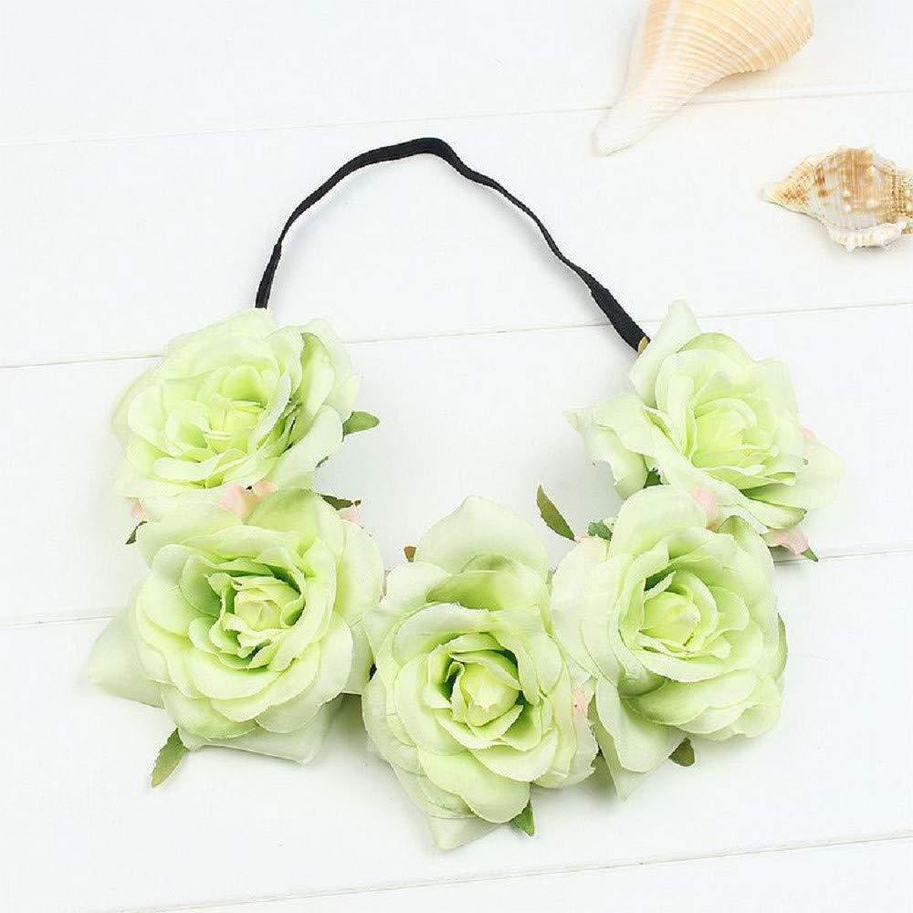 MA87 - Guirnalda de flores para la frente, diseño floral con ...