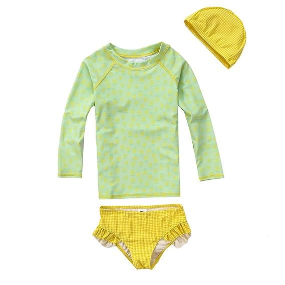 0badd9b337 Vivobiniya Little Girl Fashion Long Sleeve Swimsuits Kid Girl Bathing Suit  Upf50+ (9(H47