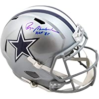 $309 » Roger Staubach HOF 85 Autographed Cowboys Speed Replica Full-Size Football Helmet - BAS COA