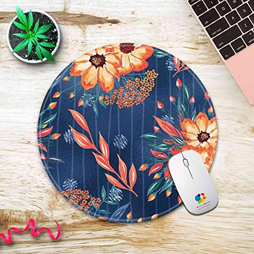 Mouse Pad Round Mouse Pad Painted Flowers Wallpaper Trendy 200mm3mm -