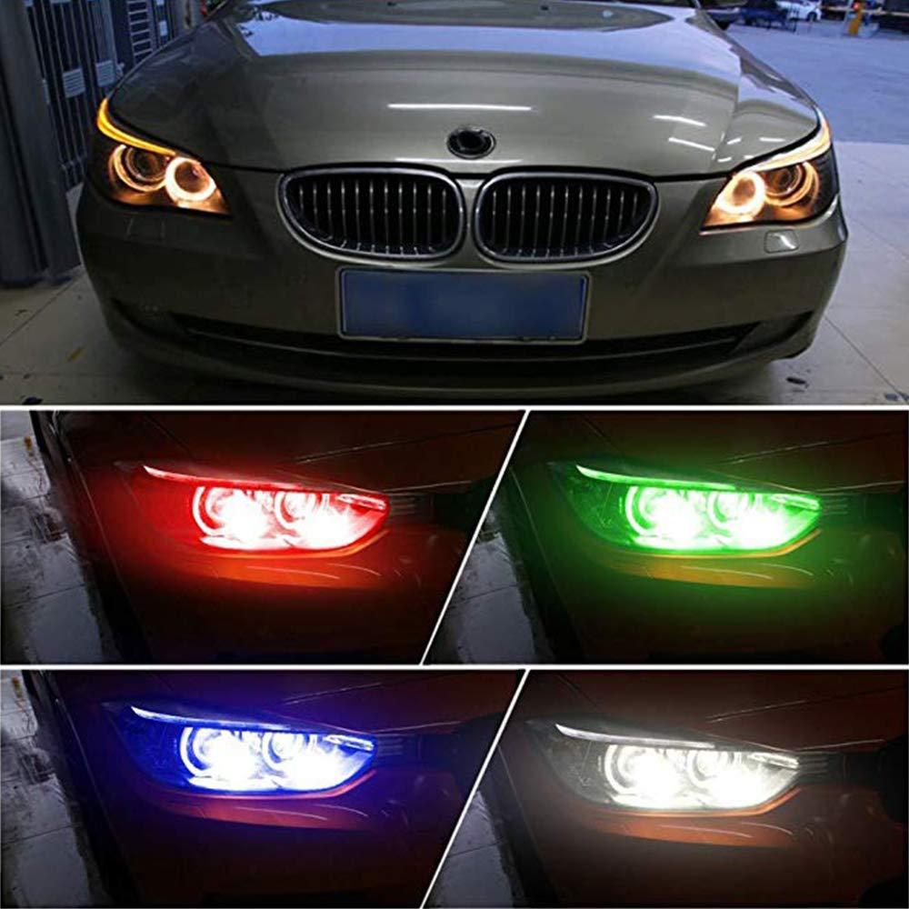 2Pcs Angel Eyes Halo Ring Marker Light Bulb E39 Led Headlight 5W 6000K 720Lm for 1 5 6 7 Series X3 X5 red