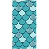 30 x 15 inch susiyo Watercolor Marine Animals Cute Sea Turtle Hand Towels Luxury Print Bathroom Towel Highly Absorbent Extra Soft Fingertip Towels Multipurpose Towels for Yoga Gym Spa Hotel Bathroom