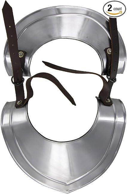 Medieval Renaissance Templar Knights Standing Collar Gorget 18G Armor