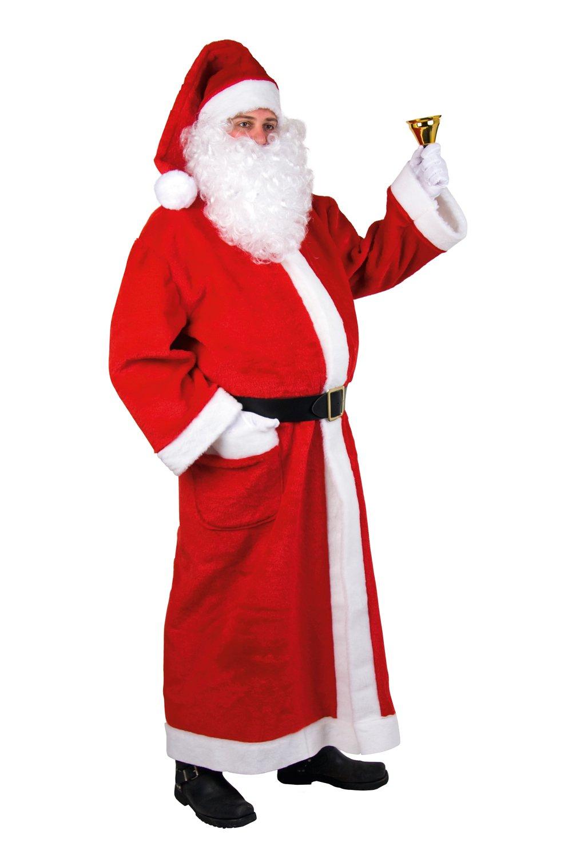 Herren Kostüm Weihnachtsmann Mantel Mantel Mantel aus Plüsch Mütze Gürtel c3b49a