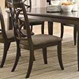 Coaster Home Furnishings Contemporary Side Chair, Espresso, Set of 2