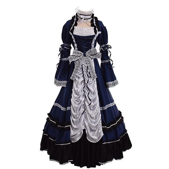 GRACEART Reenactment Ball Gown Edwardian Dress with Crinoline ...