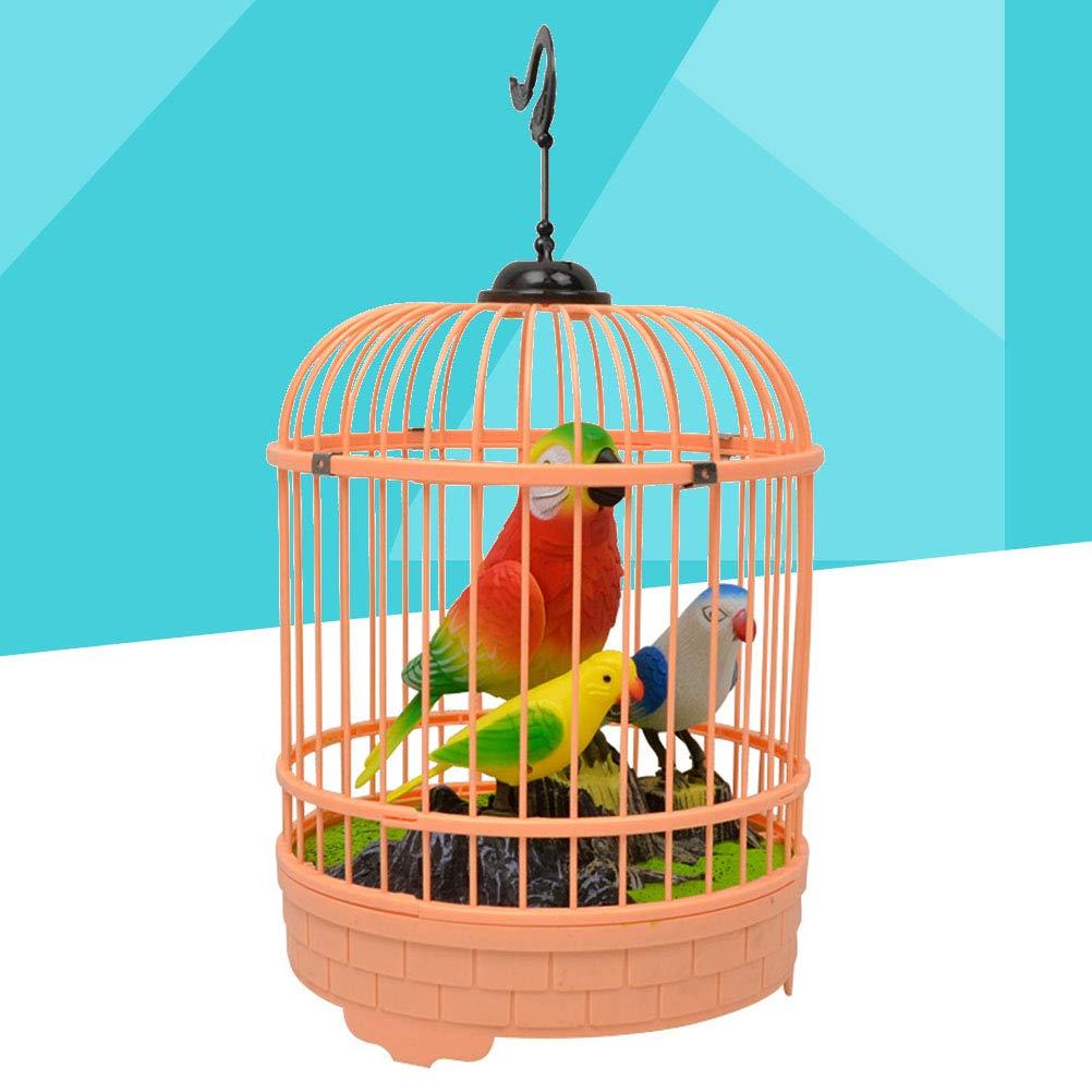 Amazon.es: YeahiBaby Juguete de Jaula de Pájaros Juguete Sonidos y ...