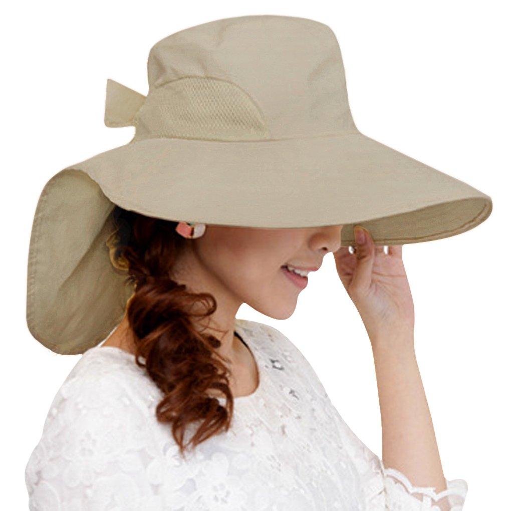 Frau Mädchen Sonnenhut UV-Schutzkappe Sommerhut Strandhut breite Krempe faltbar UPF 50 + Sun Shade elegant moden Fashion im Sommer Frühling für Reise outdoor-Aktivitäten YSXY