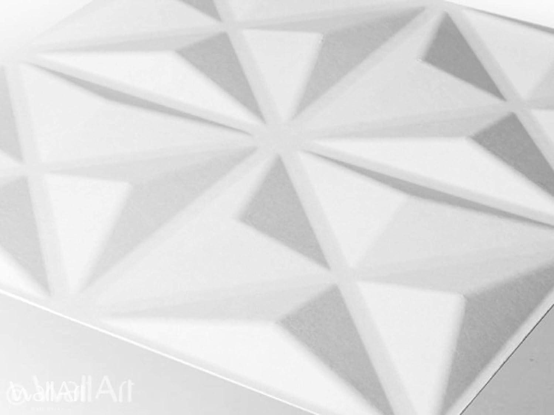12 Paneles Decorativos 3d de 50x50cm Papel Pintado 3d Revestimiento De Paredes 3D Lasse 3m/² Paneles Decorativos Para Pared WallArt Paneles Acusticos Friso Para Pared Panel De Pared 3d
