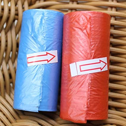 Amazon.com: PSO - 15Pcs/Roll Kitchen Garbage Bag Disposable ...