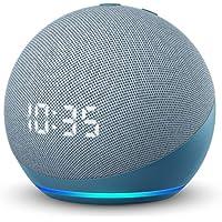Echo Dot (4th Gen) | Smart speaker with clock and Alexa | Twilight Blue