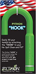 Python Hands-Free and Spill Free Aquarium Hook, Green