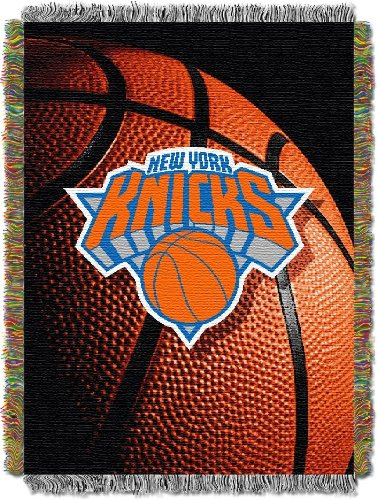 The Northwest Company Officially Licensed NBA New York Knicks Photo Real Woven Tapestry Throw Blanket, 48