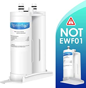 Waterdrop Refrigerator Water Filter, Compatible with WF2CB, NGFC2000, FC100, 9916, 469916, EWF2CBPA