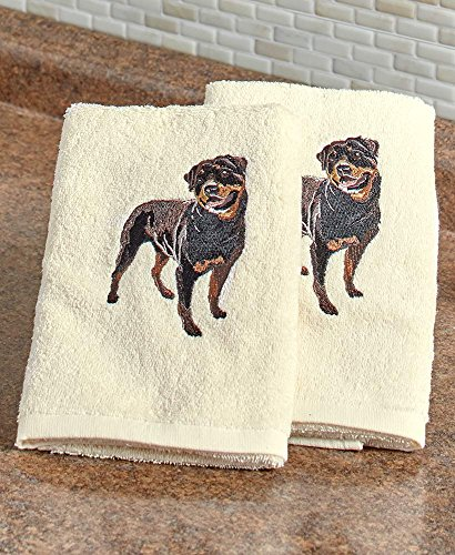 (The Lakeside Collection Set of 2 Dog Breed Hand Towels-)