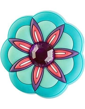 67682313b6 Crocs Rhinestone Pink Flower Shoe Decoration Charms