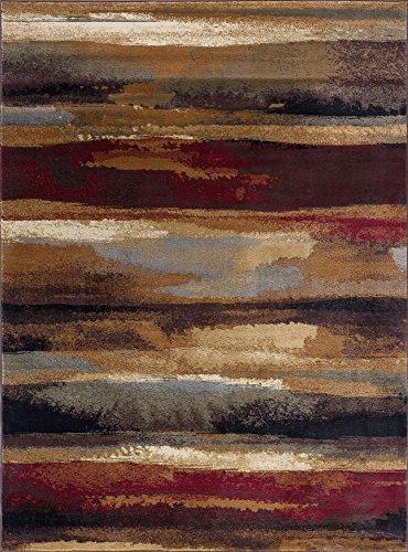 10 Rectangle Rug Flooring - Dakota Contemporary Abstract Multi-Color Rectangle Area Rug, 8' x 10'