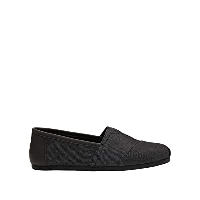 TOMS Men's Classic Heavy Denim Ankle-High Fabric Slip-On Shoes | Shoes