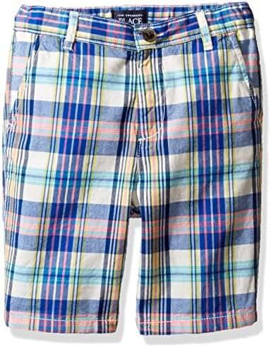The Children's Place Baby-Boys' His Li'l Plaid Flat Front Shorts