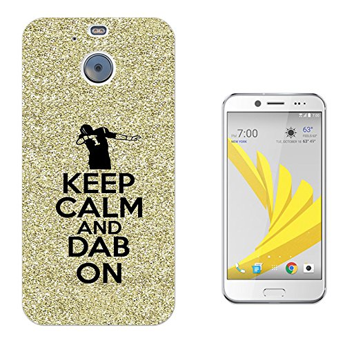 002785 - Keep Calm And Dab On Dance Hip Hop RnB Design HTC Bolt Fashion Trend CASE Gel Rubber Silicone All Edges Protection Case Cover (Hip Hop Bolt)