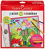 fairy paint by number - Faber-Castell Young Artist Paint By Number Kit Fairy Garden, Kids Watercolor Art Kit