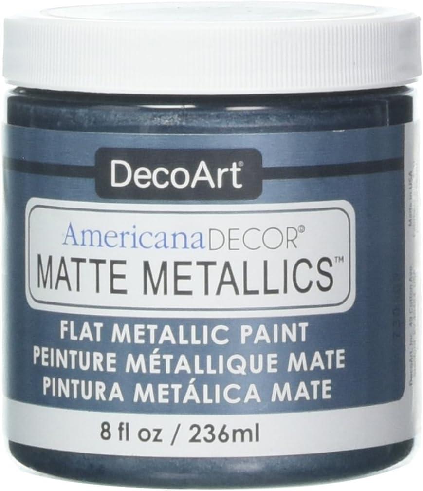 Deco Art Americana Decor Matte 8OZ Pewter Craft Paint