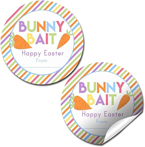Girl Easter Favor Stickers Happy Easter Easter Bunny Labels Easter Bunny Personalized Round Easter Gift Labels Easter Stickers