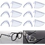 clear universal flexible side shields safety glasses goggles eye protection BWHW