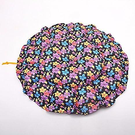 Pet Online Pet cama nido de calabaza redonda four seasons disponible pet kennel, 60cm, floral azul: Amazon.es: Productos para mascotas