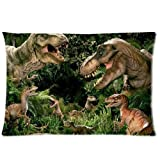 Cool Jurassic Park Dinosaur Tyrannosaurus Rex Custom Pillow case Cotton 20x30 Queen Size DIY Bedding Pillowcase Cushion Case