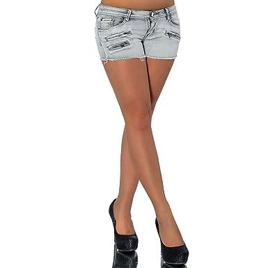 G466 Damen Jeans Kurze Hose Damenjeans Hüftjeans Hot Pants Shorts