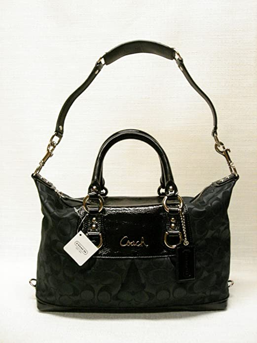 86f7400c30 Amazon.com  Coach Signature Ashley Sabrina Duffle Satchel Shoulder Bag  Purse 15443 Black  Shoes