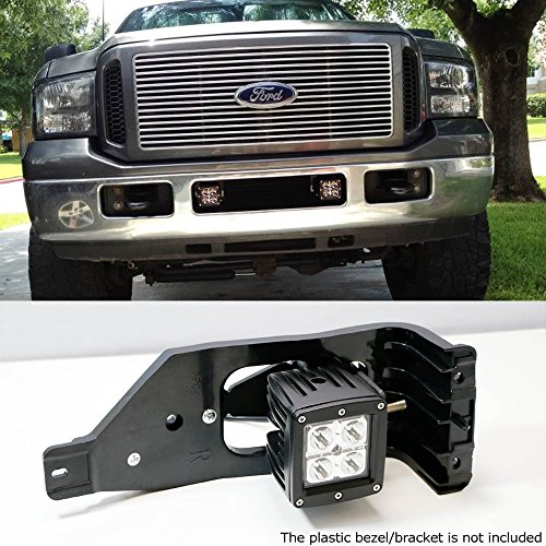 iJDMTOY Complete 40W High Power CREE LED Fog Light Kit w/ Fog Lamp Location Mounting Brackets For 1999-2016 Ford F-250 F-350 F-450 Super Duty by iJDMTOY (Image #5)