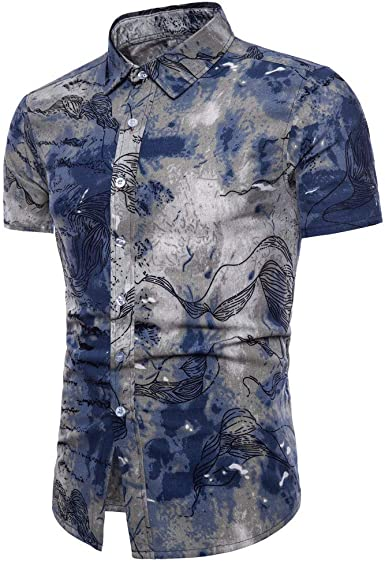 Aiserkly - Camiseta básica de Manga Corta para Hombre, Cuello ...