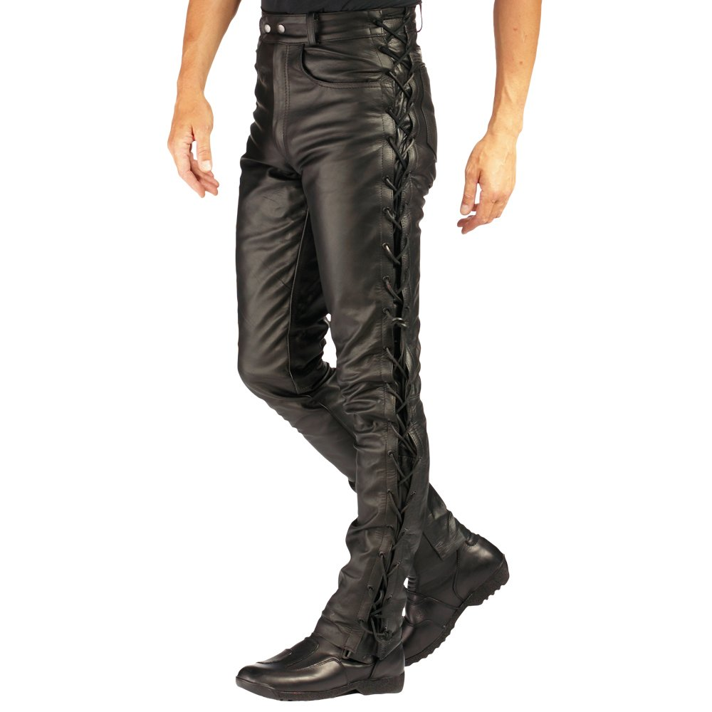Roleff RO 3 D Ladies Lace-Up Leather Motorbike Trousers EU 44 UK 16