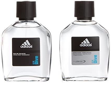 Adidas Ice dive - Agua de colonia con vaporizador, 100 ml + after shave,