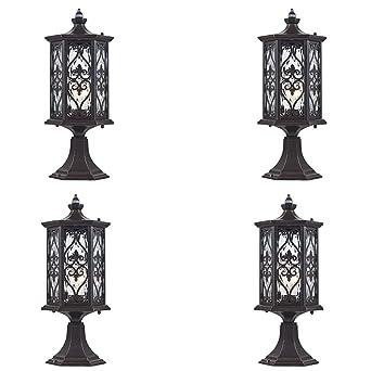 Lot de 4 Antique classique lampadaire lampadaire extérieur, lanterne ...