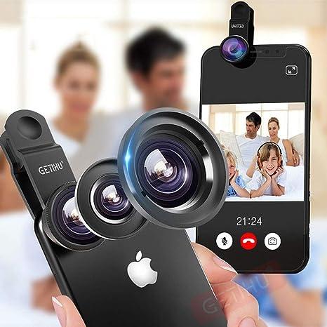 HAO 3 In1 Gran Angular Macro Lente Ojo de pez Cámara Lentes del teléfono móvil Lente de Ojo de pez para iPhone Smartphone Microscopio: Amazon.es: Deportes y aire libre