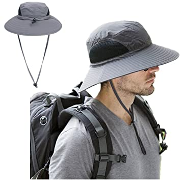 75265b38 Outdoor Boonie Sun Hat— UPF 50+, Waterproof, Quick Drying, Sunscreen,  Breathable Nylon Mesh Wide Brim Summer Hat for Fishing/ Hiking/ Camping/  Boating/ ...