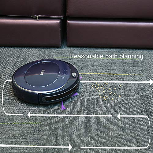 Glumes Smart Robotic Vacuum, Pet Hair Care, Powerful Suction Tangle-free, Super Quiet, Slim Design, Auto Charge, Daily Planning, Good For Hard Floor and Low Pile Carpet Ideal Gift BF Sales (Ship from US!) (Blue) by Glumes (Image #3)