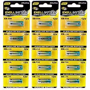 3pc 5pk EB-23A 12V Alkaline Battery Fits and Replaces Chamberlain 750 753 756, Craftsmen 139.53962SRT, Energizer A23BP2 AE23, Genie Garage Door ACSCTG A23F, Gp Super Alkaline 23279 750