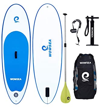 WOWSEA Tabla Inflatable Paddle para Surf, Paddle Board Hinchable para Adolescentes y Niños con Tamaño de 223 * 68 * 15cm, Carga hasta 80kg: Amazon.es: ...