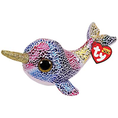 Ty 36257 NOVA NARWHAL Beanie Boo, Multicolored: Toys & Games