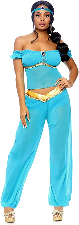 XL Arabian Nights Princess Inspired Turquoise and Gold Handmade Cosplay Adult Womens Apron
