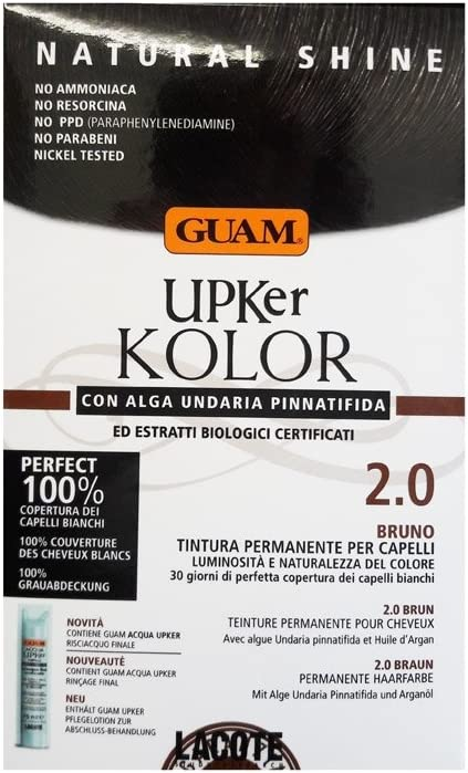 Guam – UPKER KOLOR tinte permanente natural con alga undaria y extractos orgánicos 2.0 BRUNO