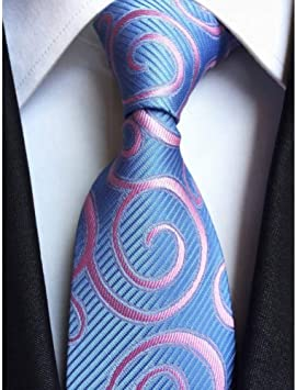 AK Corbata de corbata a cuadros de seda clásica para hombre,6 ...