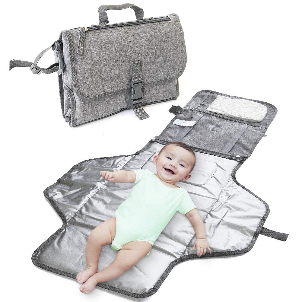 IsaMaNNeR Changing Pad - Portable Changing Pad, Baby Changing Pad Portable Diaper Pad, Diaper Changing Pad, Folding Diaper Clutch, Baby Travel Kits, Diaper Pouch, Travel Changing Mat with Pillow by ISAMANNER