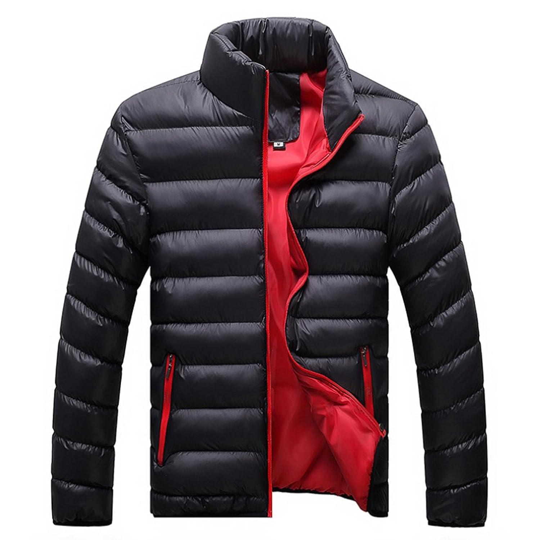 Man Down Coat Slim Warm Cotton Coat black only