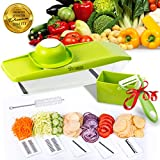 Mandoline Slicer with 5 IN 1 Vegetable Spiralizer Food Catch...